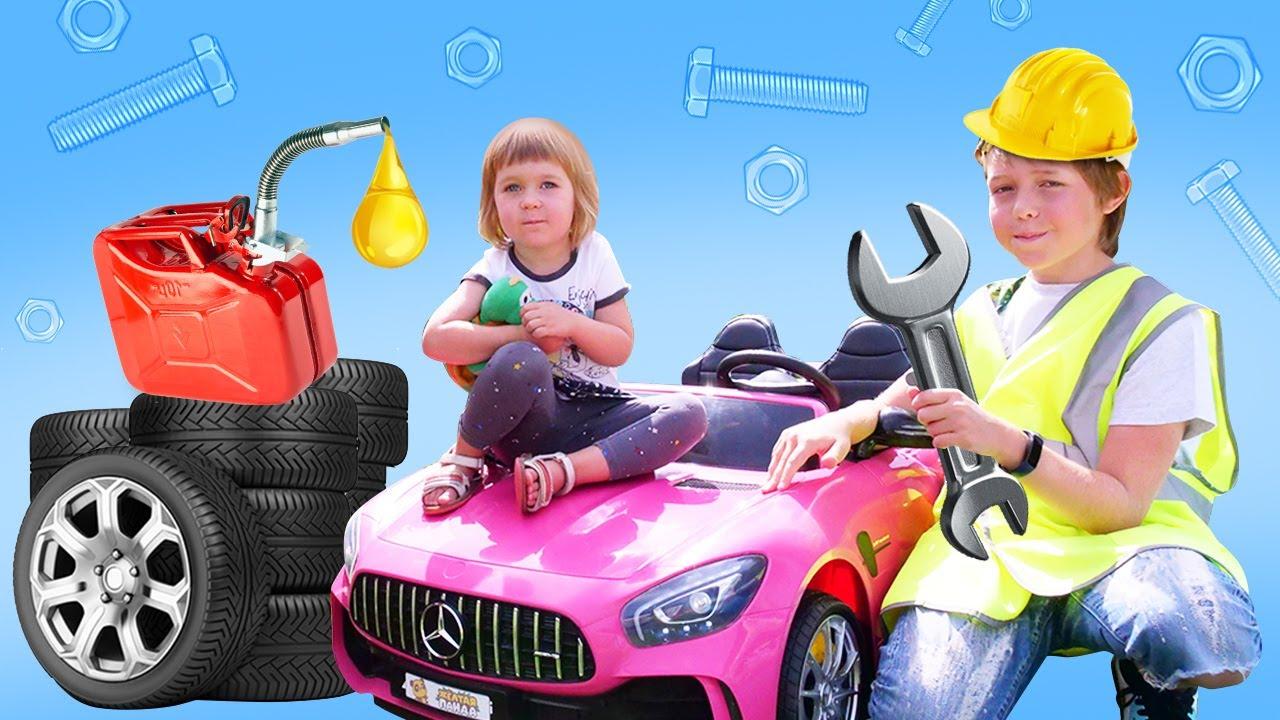 Download Bianca guida una macchina per bambini e va dal meccanico! Video per bimbi - impara giocando