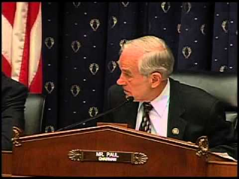 Ron Paul Hearing on the Fed's Enabling of Government Debt -- 5/11/11