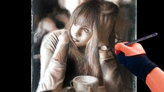 Drawing Girl in the Coffee Shop 2 - Art Drawing Video