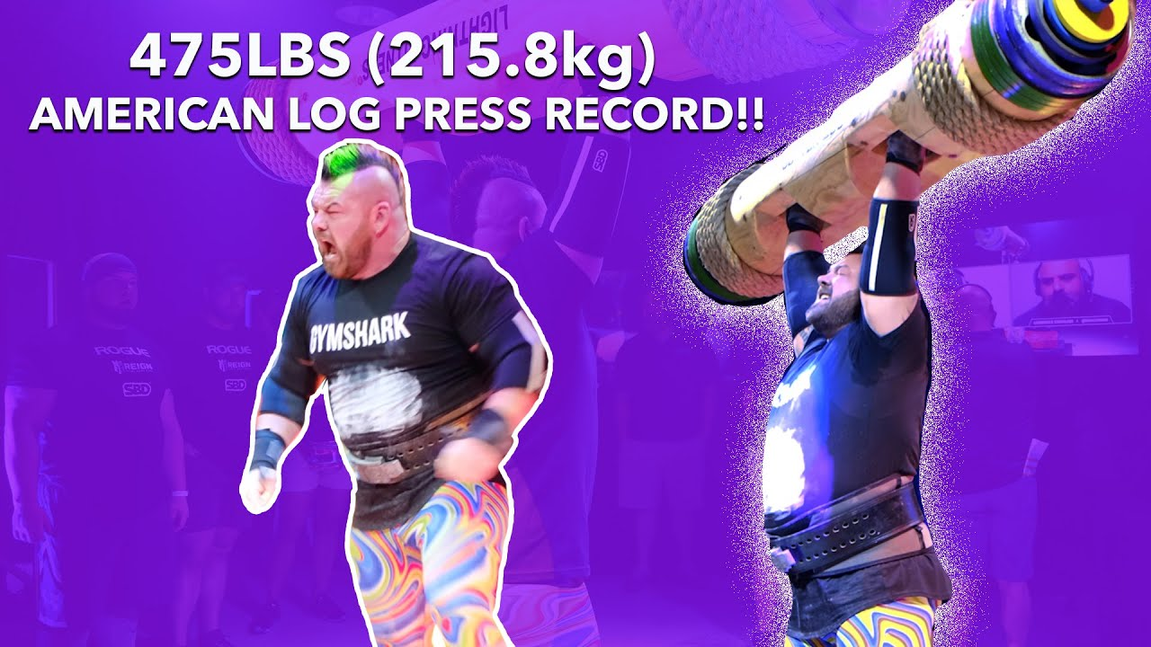 AMERICAN LOG PRESS RECORD 475LBS - BEHIND THE SCENES!