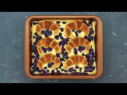 Blaubeer-Croissant-Auflauf