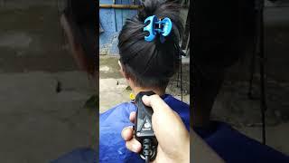 Erna Cukur Rambut Tengkuknya ( Nape Shave )
