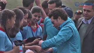 Sachin Tendulkar playing cricket in Nepal at TU cricket Ground