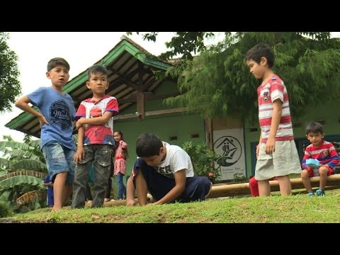 Refugees in Indonesia tackle life in limbo through school
