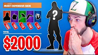 Most EXPENSIVE Fortnite skin combo! ($2,000+)