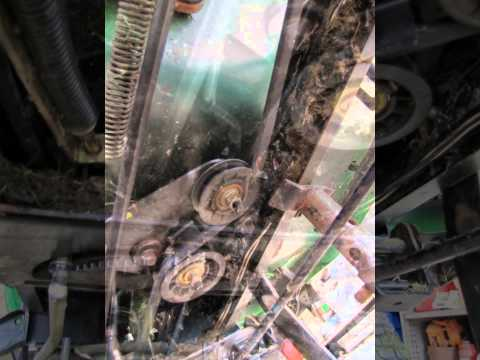 how to remove greenfield ride on mower pulley