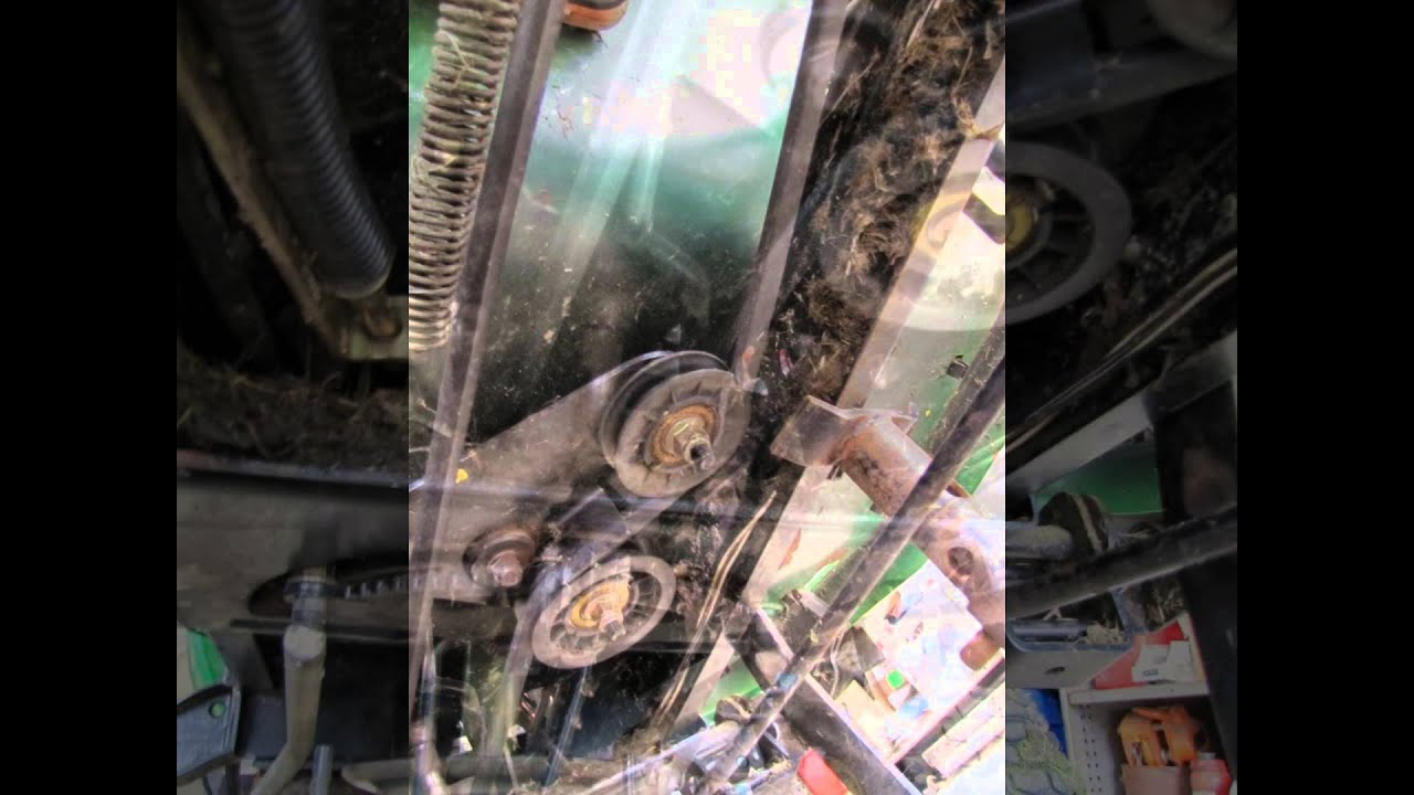 john deere l111 ride on mower transmission drive belt [ 1280 x 720 Pixel ]