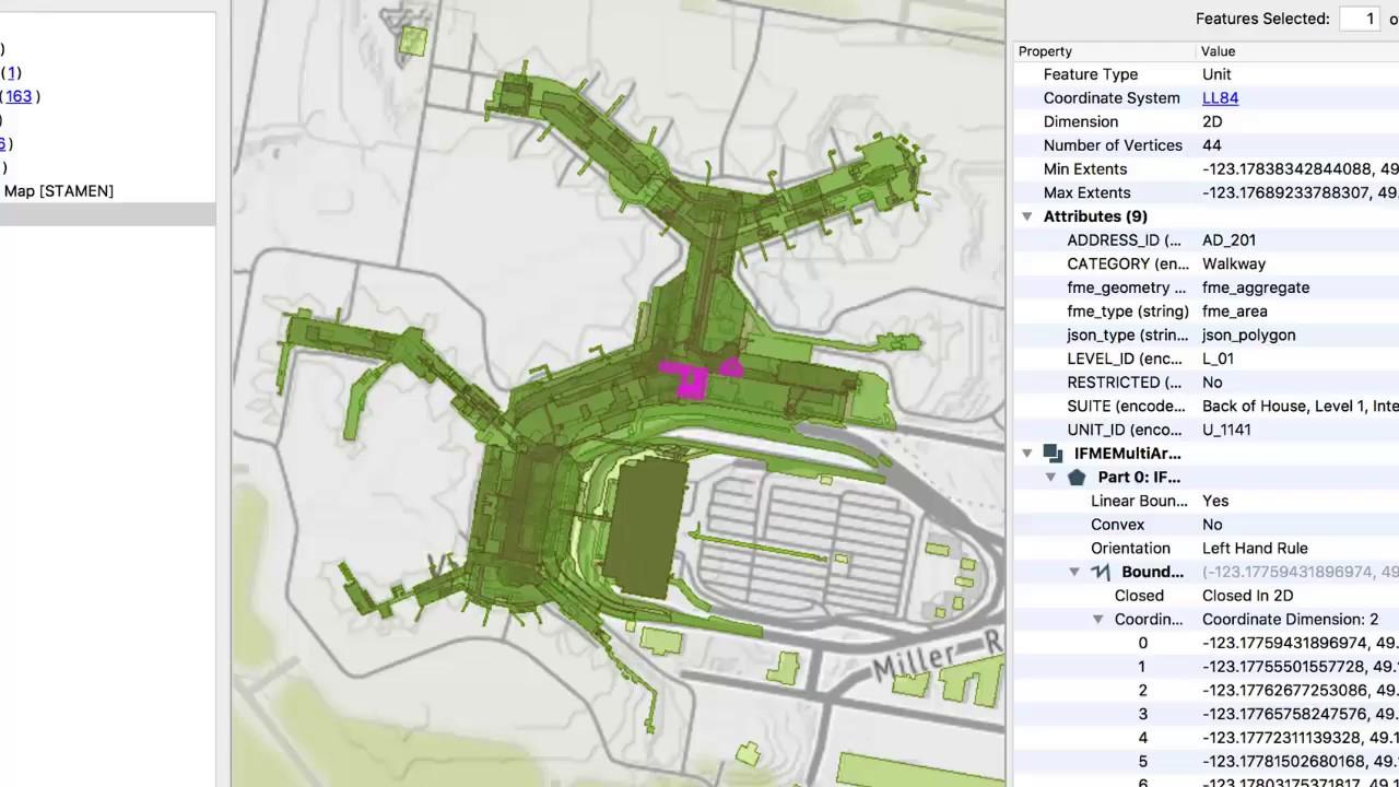 Converting to IMDF for Indoor Mapping - YVR airport demo on indoor home, indoor waterpark, indoor map depth, indoor landscape, indoor cloud point, indoor mobile,