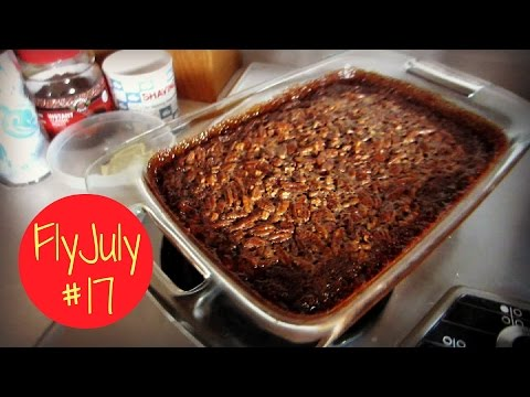MAKING CHOCOLATE PECAN PIE BARS (Fly July #17)