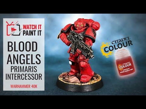 Warhammer 40K - Using Contrast Paints - Painting Blood Angels Primaris Intercessor