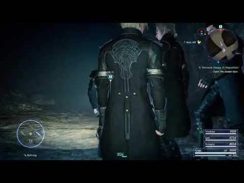 Final Fantasy XV end game Dungeon seal doors [PS4 Pro]