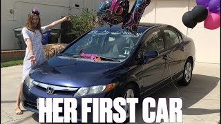 SURPRISING MY TEENAGE DAUGHTER WITH HER FIRST CAR ON HER 16TH BIRTHDAY