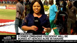 Mugabe to be buried at Heroes Acre in Harare