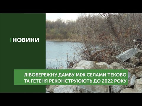 Лівобережну дамбу між селами Теково та Гетиня реконструюють до 2022 року