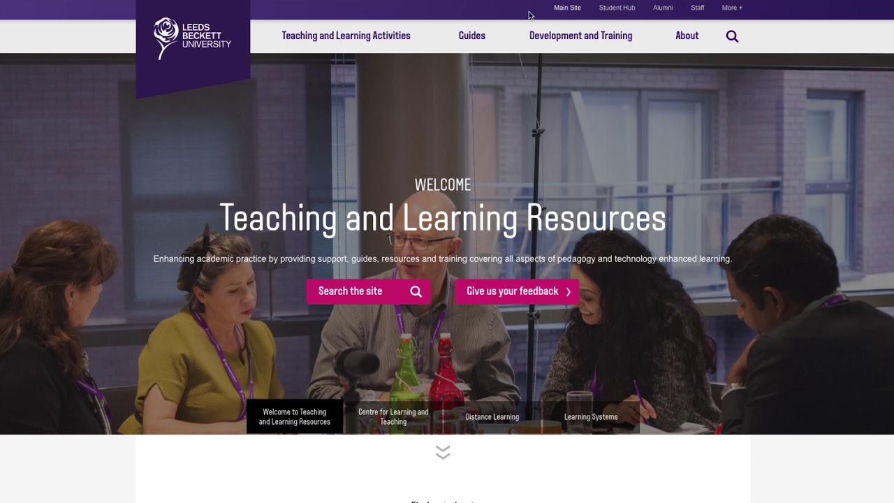 Teaching Learning Resources Leeds Beckett University