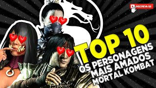 OS PERSONAGENS MAIS AMADOS DE MORTAL KOMBAT TOP 10