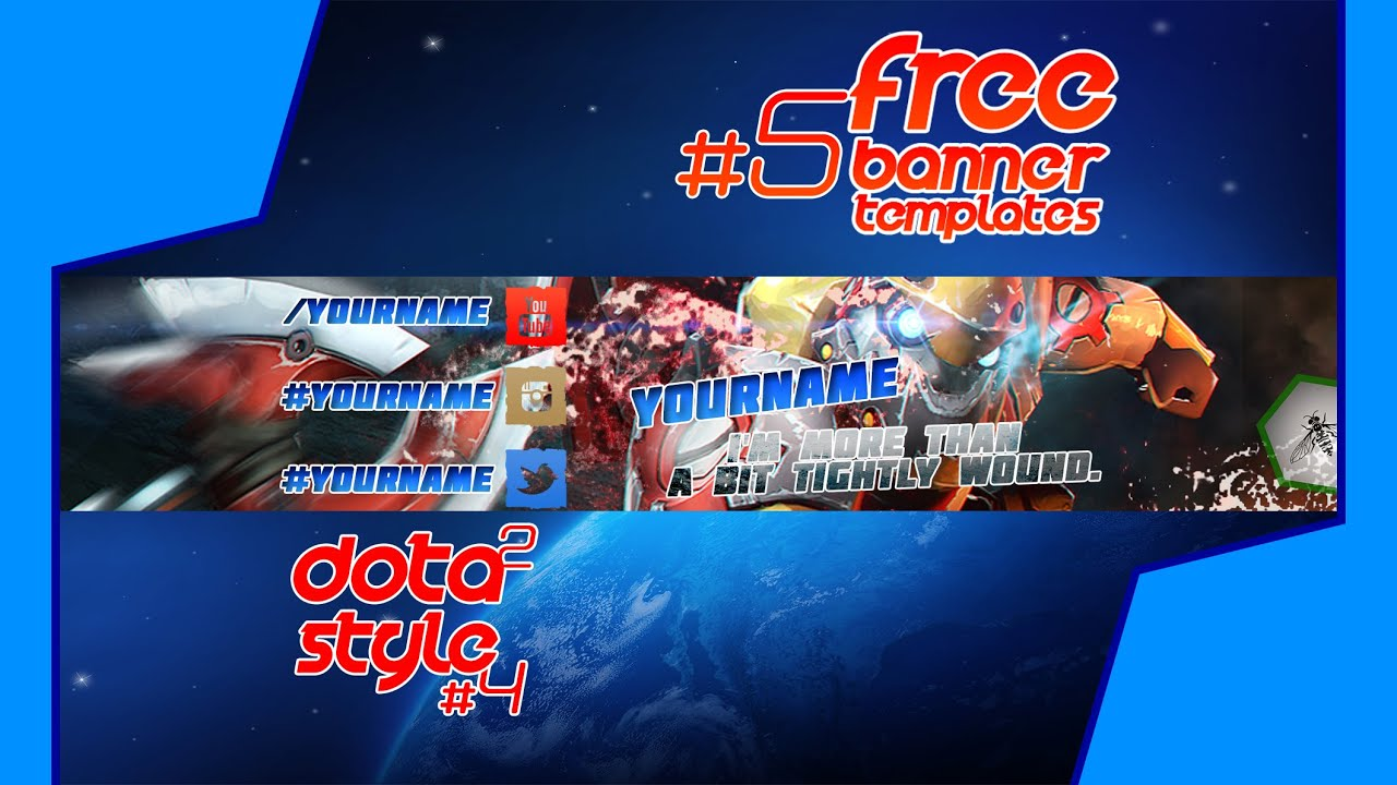 free banner templates 5 dota 2 clockwerk style 4 youtube