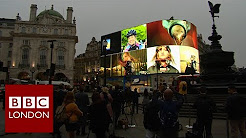 Piccadilly Circus lights switched back on after renovations - BBC London News