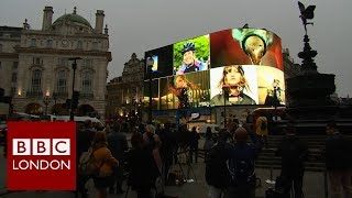 Piccadilly Circus has had a makeover. The bright lights of the bill...