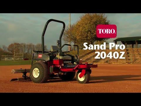 Toro® Sand Pro® 2040Z Infield Groomer - YouTube