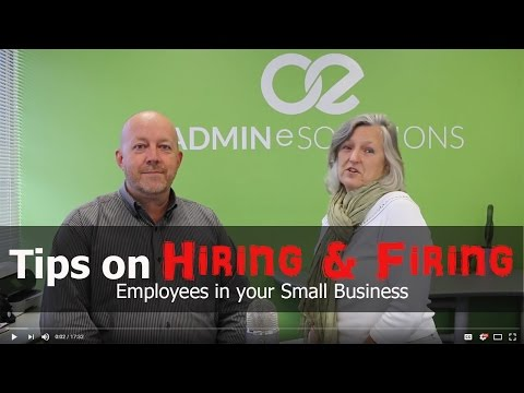 Tips on Hiring & Firing Employees for your Small Business
