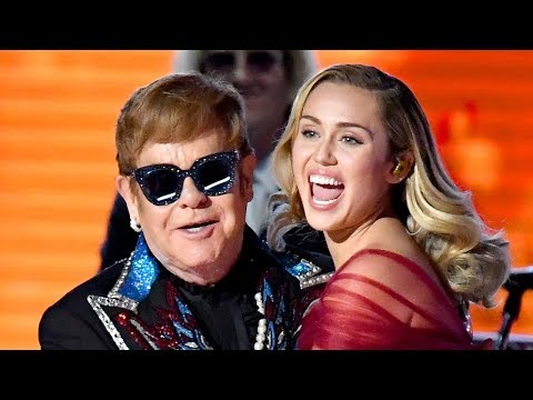 Miley Cyrus & Elton John Sing FLAWLESS Tiny Dancer Duet At 2018 Grammys