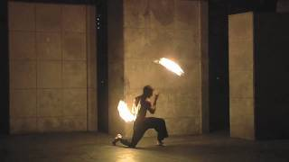 Mark H fire dance demo;  deathstars, poi, staff, and double staff