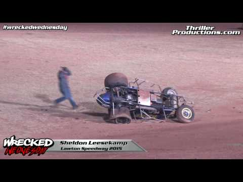 Wrecked Wednesday 18 Sheldon Leesekamp flip at Lawton Speedway in 2015