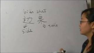"How to Write Chinese Symbols for Furniture : How to Write ""Side Table"" in Chinese"