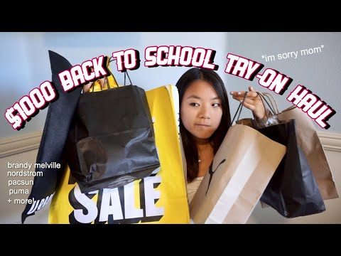 $1000 Back to School TRY-ON HAUL 2018
