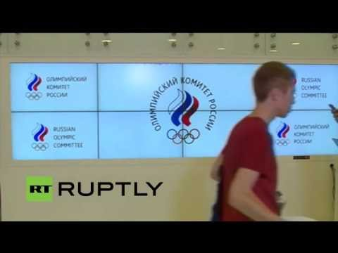 Moscow-Russian Olympic committee give a press conference following CAS decision to uphold Rio ban