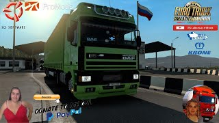 """Euro Truck Simulator 2 2(1.38)   DAF 95ATI by XBS v1.3 Russia to Norway Delivery to Kirkenes Over 300km Promods map v2.50 Krone ProfiLiner Ownable Trailer DLC by SCS Animated gates in companies v3.7 [Schumi] Real Company Logo v1.0 [Schumi] Company addon v1.8 [Schumi] Trailers and Cargo Pack by Jazzycat Motorcycle Traffic Pack by Jazzycat FMOD ON and Open Windows Naturalux Graphics and Weather Spring Graphics/Weather v3.6 (1.38) by Grimes Test Gameplay ITA Europe Reskin v1.0 + DLC's & Mods  For Donation and Support my Channel https://paypal.me/isabellavanelli?loc... #JoeBidenforPresident  SCS Software News Iberian Peninsula Spain and Portugal Map DLC Planner...2020 https://www.youtube.com/watch?v=NtKeP... Euro Truck Simulator 2 Iveco S-Way 2020 https://www.youtube.com/watch?v=980Xd... Euro Truck Simulator 2 MAN TGX 2020 v0.5 by HBB Store https://www.youtube.com/watch?v=HTd79...  #TruckAtHome #covid19italia Euro Truck Simulator 2    Road to the Black Sea (DLC)    Beyond the Baltic Sea (DLC)   Vive la France (DLC)    Scandinavia (DLC)    Bella Italia (DLC)   Special Transport (DLC)   Cargo Bundle (DLC)   Vive la France (DLC)    Bella Italia (DLC)    Baltic Sea (DLC) Iberia (DLC)   American Truck Simulator New Mexico (DLC) Oregon (DLC) Washington (DLC) Utah (DLC) Idaho (DLC) Colorado (DLC)     I love you my friends Sexy truck driver test and gameplay ITA  Support me please thanks Support me economically at the mail vanelli.isabella@gmail.com  Roadhunter Trailers Heavy Cargo  http://roadhunter-z3d.de.tl/ SCS Software Merchandise E-Shop https://eshop.scssoft.com/  Euro Truck Simulator 2 http://store.steampowered.com/app/227... SCS software blog  http://blog.scssoft.com/  Specifiche hardware del mio PC: Intel I5 6600k 3,5ghz Dissipatore Cooler Master RR-TX3E  32GB DDR4 Memoria Kingston hyperX Fury MSI GeForce GTX 1660 ARMOR OC 6GB GDDR5 Asus Maximus VIII Ranger Gaming Cooler master Gx750 SanDisk SSD PLUS 240GB  HDD WD Blue 3.5"""" 64mb SATA III 1TB Corsair Mid Tower Atx Carbi"""