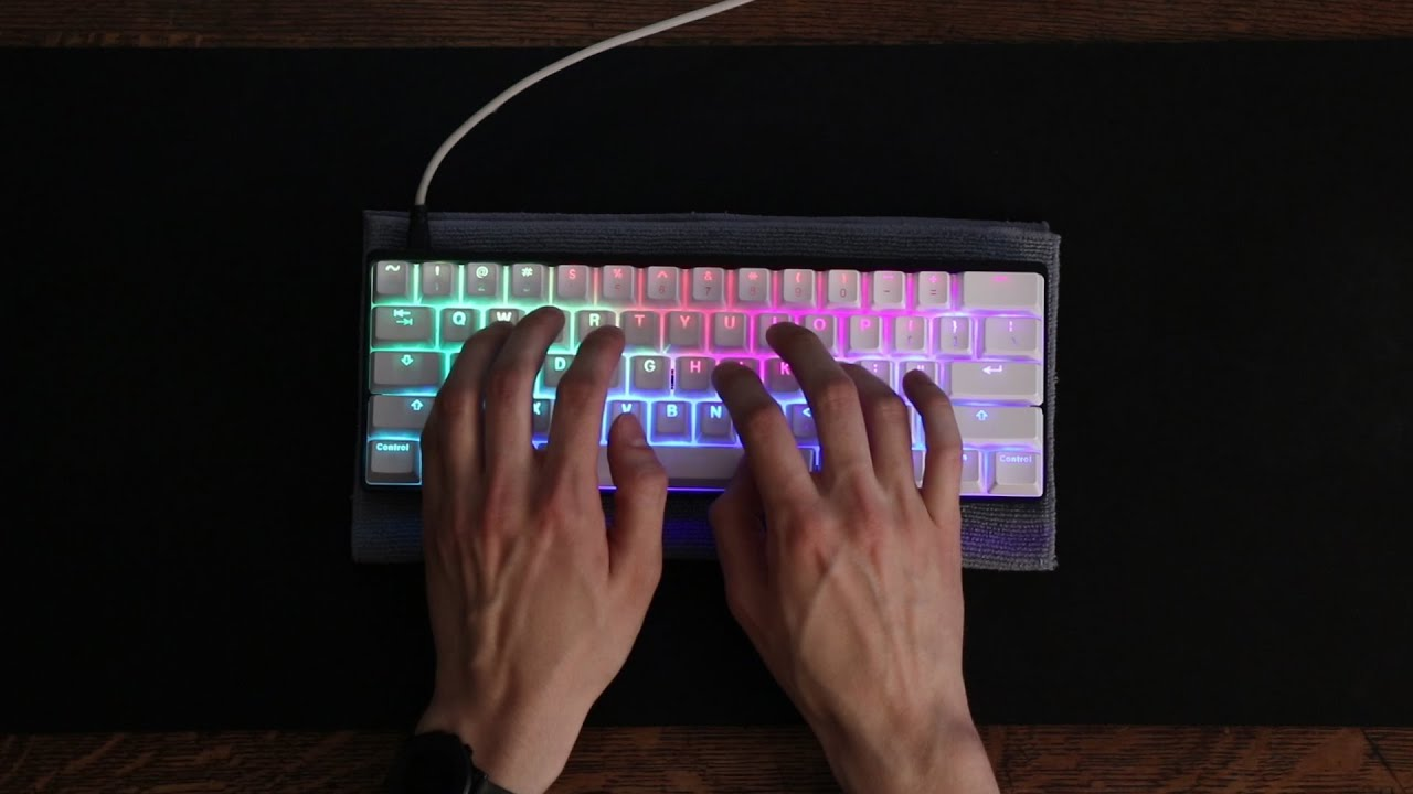 bc208e0eb8c Vortex POK3R RGB Sound Test - Cherry MX Blue - YouTube
