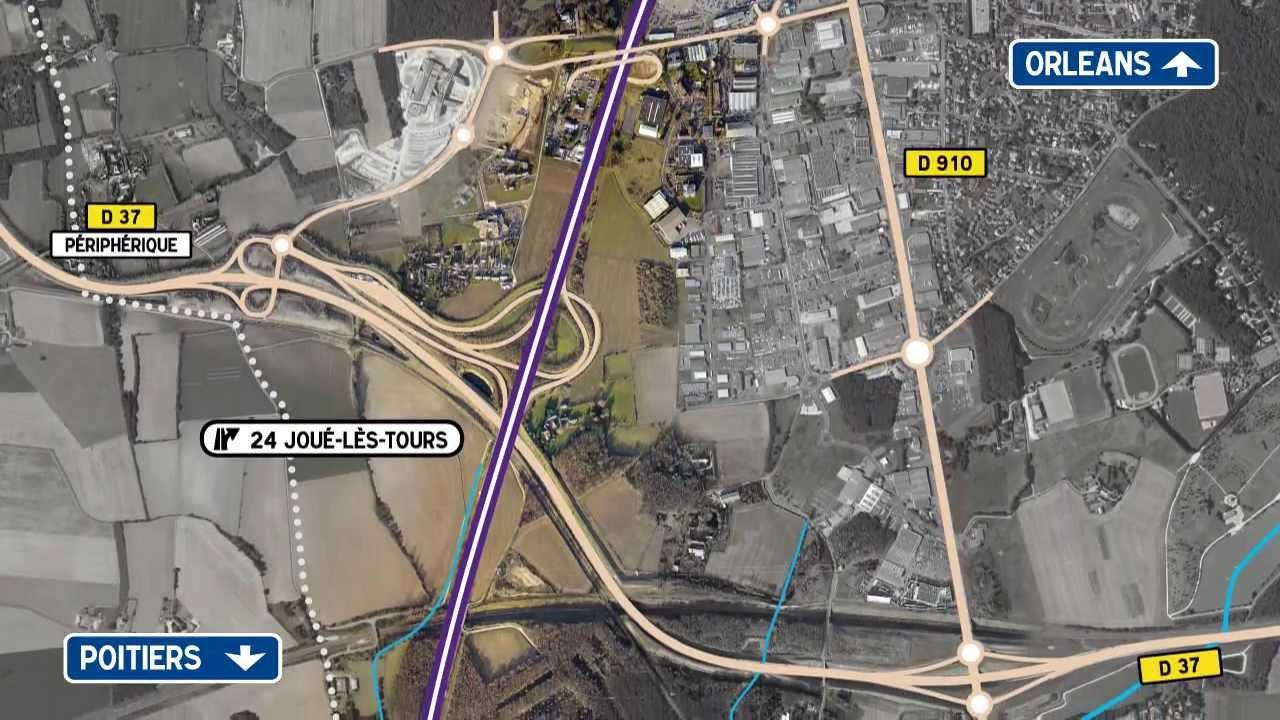 A10 projet d 39 am nagement de la 3e voie entre chambray - Piscine chambray les tours ...
