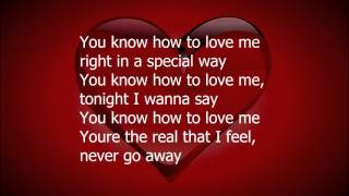 You Know How To Love Me by Phyllis  Hyman (lyrics)