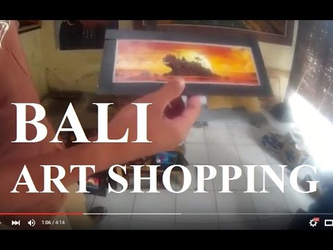 Bali Paintings Shopping - Ubud Art Gallery Factory