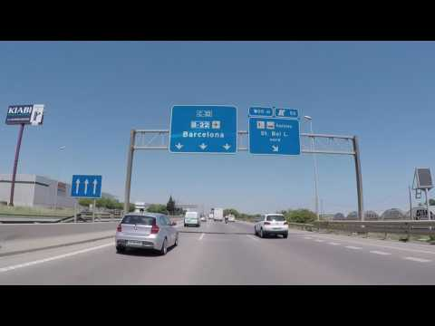 Espagne Autoroute vers Barcelone, Gopro / Spain Motorway to Barcelona, ​​Gopro