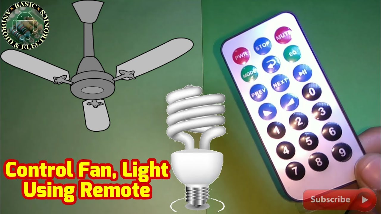 Control Light  Fan Using Remote   How To Make Remote Control Circuit