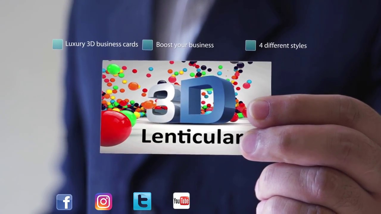 Lenticular 3d custom business cards youtube lenticular 3d custom business cards magicingreecefo Image collections