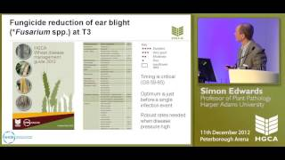 Fusarium mycotoxins: staying in control - Simon Edwards - Agronomists' conference 2012