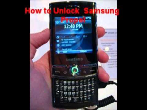 Samsung Propel Unlock Code - Free Instructions