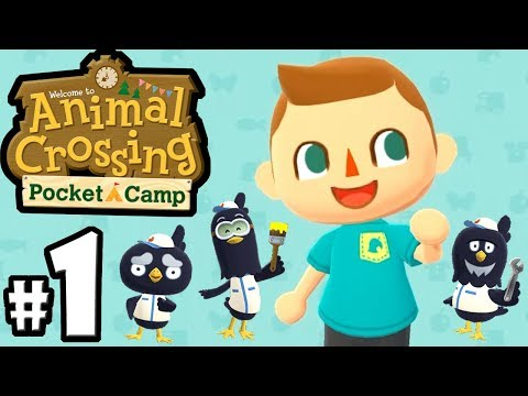 Animal Crossing Pocket Camp - Mobile Gameplay Walkthrough PART 1 - New Campsite & Character Creation