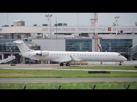 [Full HD]Air Serbia Bombardier CRJ900 Takeoff From Belgrade