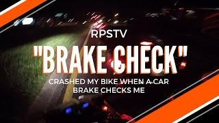 ROAD RAGE MOTORCYCLE CRASH + Biker kicks mirror off