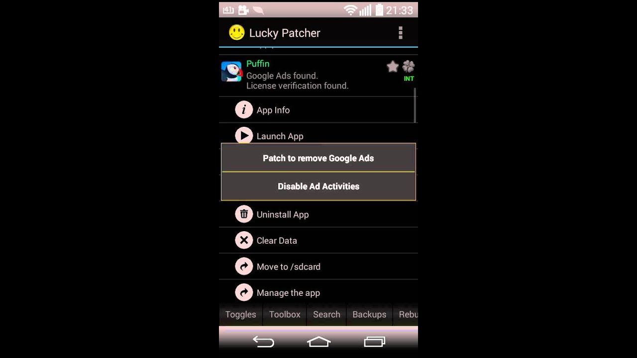 lucky patcher (rooted device) apk