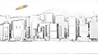 Auto Draw 2: Admiralty Skyline, Hong Kong