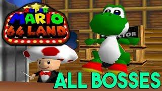 Super Mario 64 Land - All Bosses
