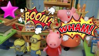 Peppa Pig en el parque de bolas juega en la piscina y el tobogán | Vídeos de Peppa Pig en español