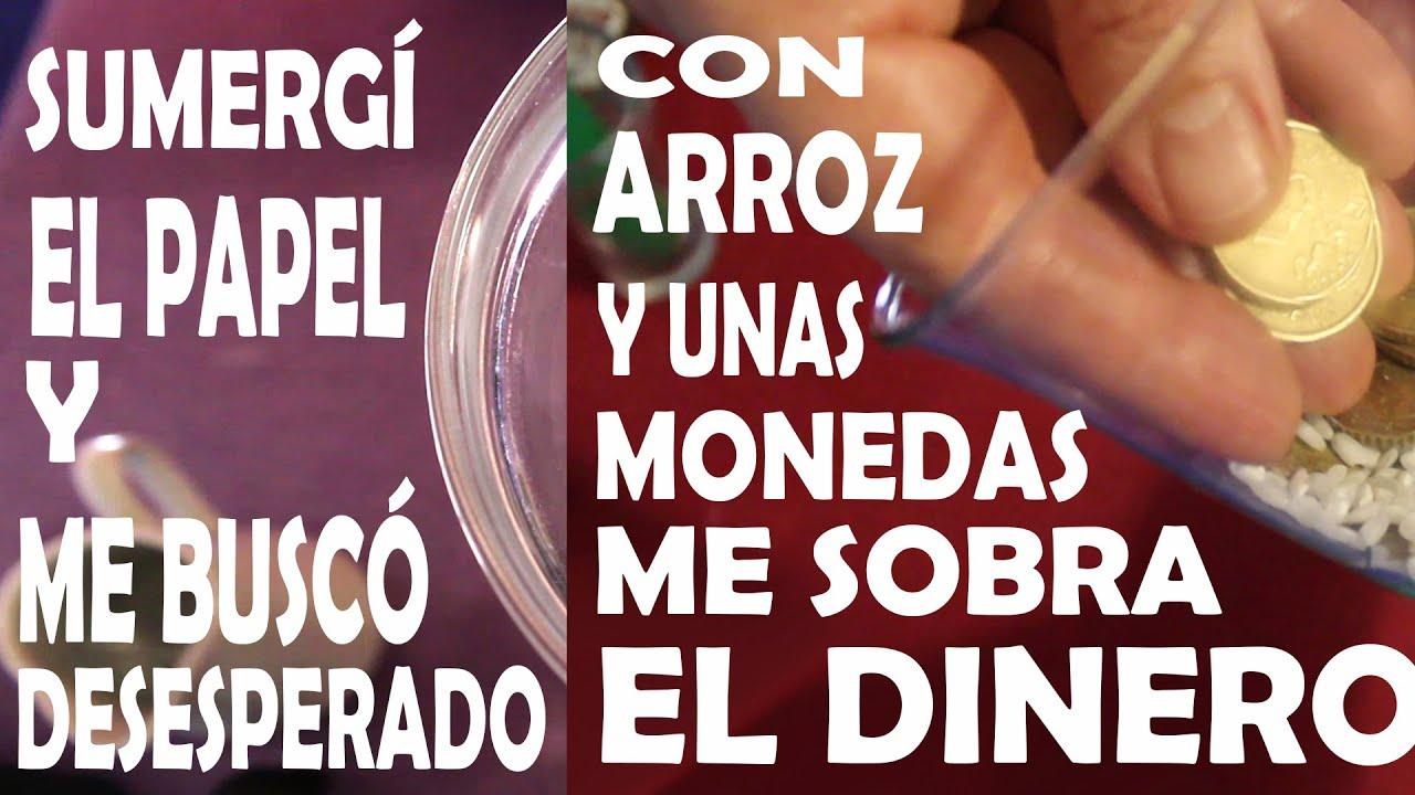 AMARRE PARA DOMINAR Y AMANSAR MUY PODEROSO con Agua y ATRAER DINERO con ARROZ y MONEDAS