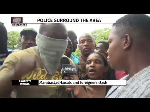 Intense stand-off between locals and immigrants in Pretoria